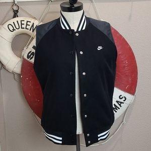 NEW Rare Nike Wool Sleeveless Varsity Jacket